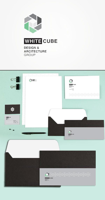 طراحی لوگو، هویت بصری و ست اداری شرکت معماری مکعب سفید از سِشات